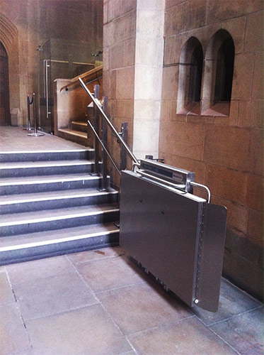 Inva StairRiser at Sheffield Cathedral