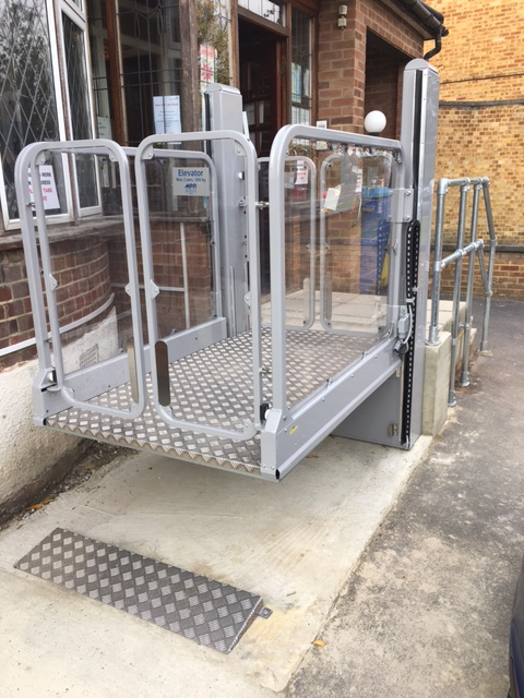 External Platform Lift For Wheelchair Use Invalifts
